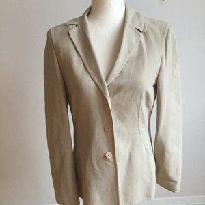 Escada beige tan jacket blazer sz 36 (small) italy
